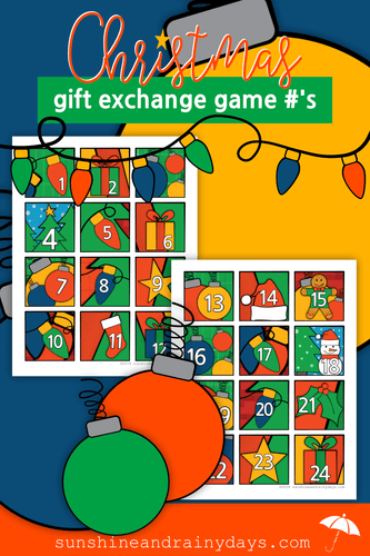 Christmas Gift Exchange Game Numbers