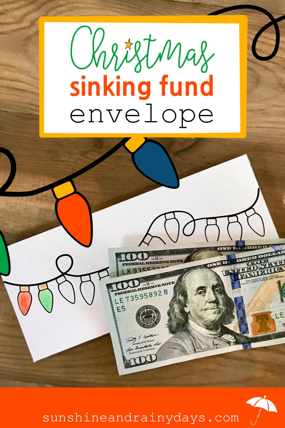 Christmas Sinking Fund Envelope (PDF)