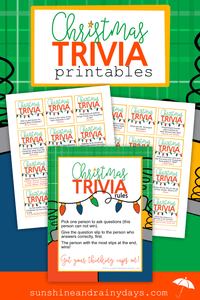 Christmas Trivia Game Printables - PDF