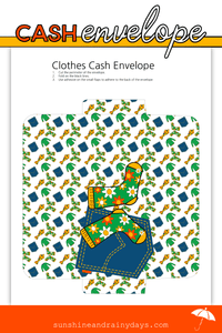 Clothes Cash Envelope (PDF)