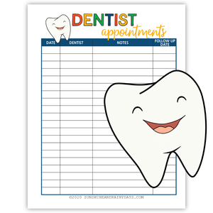 Dentist Appointments (PDF)