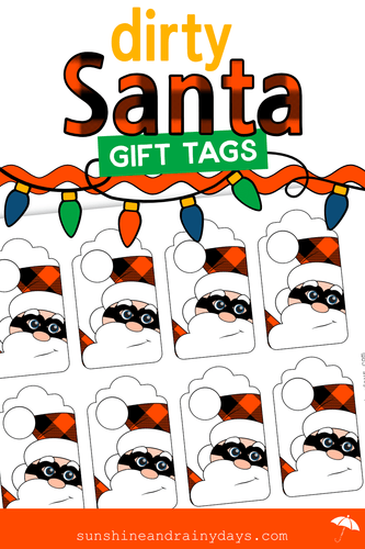 Dirty Santa Gift Tags (PDF)
