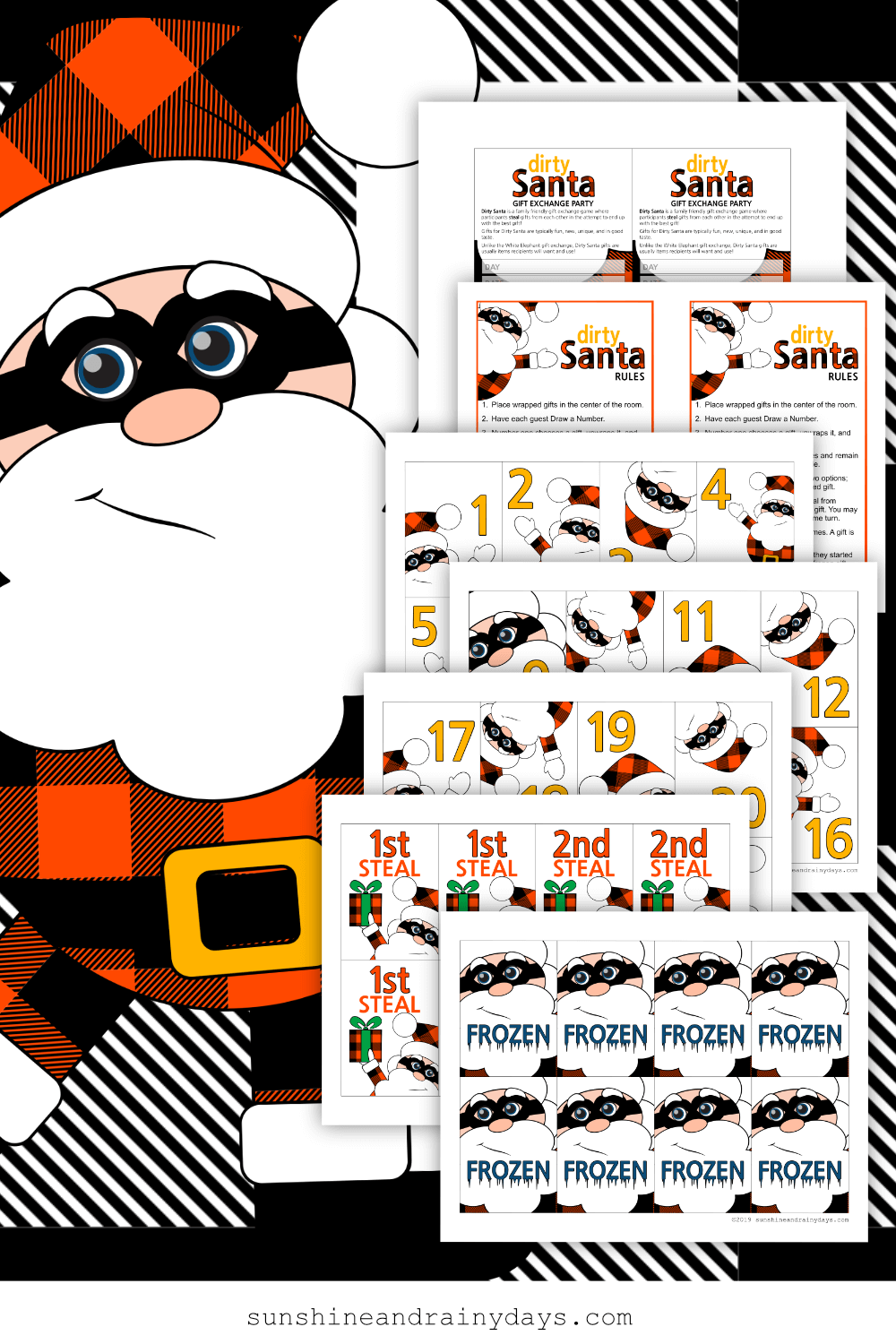 Dirty Santa Game - Buffalo Plaid (PDF)