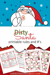 Dirty Santa Rules and #'s (PDF)