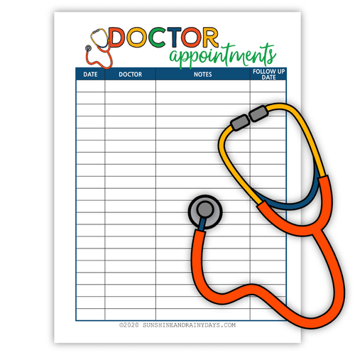 Doctor Appointments (PDF)