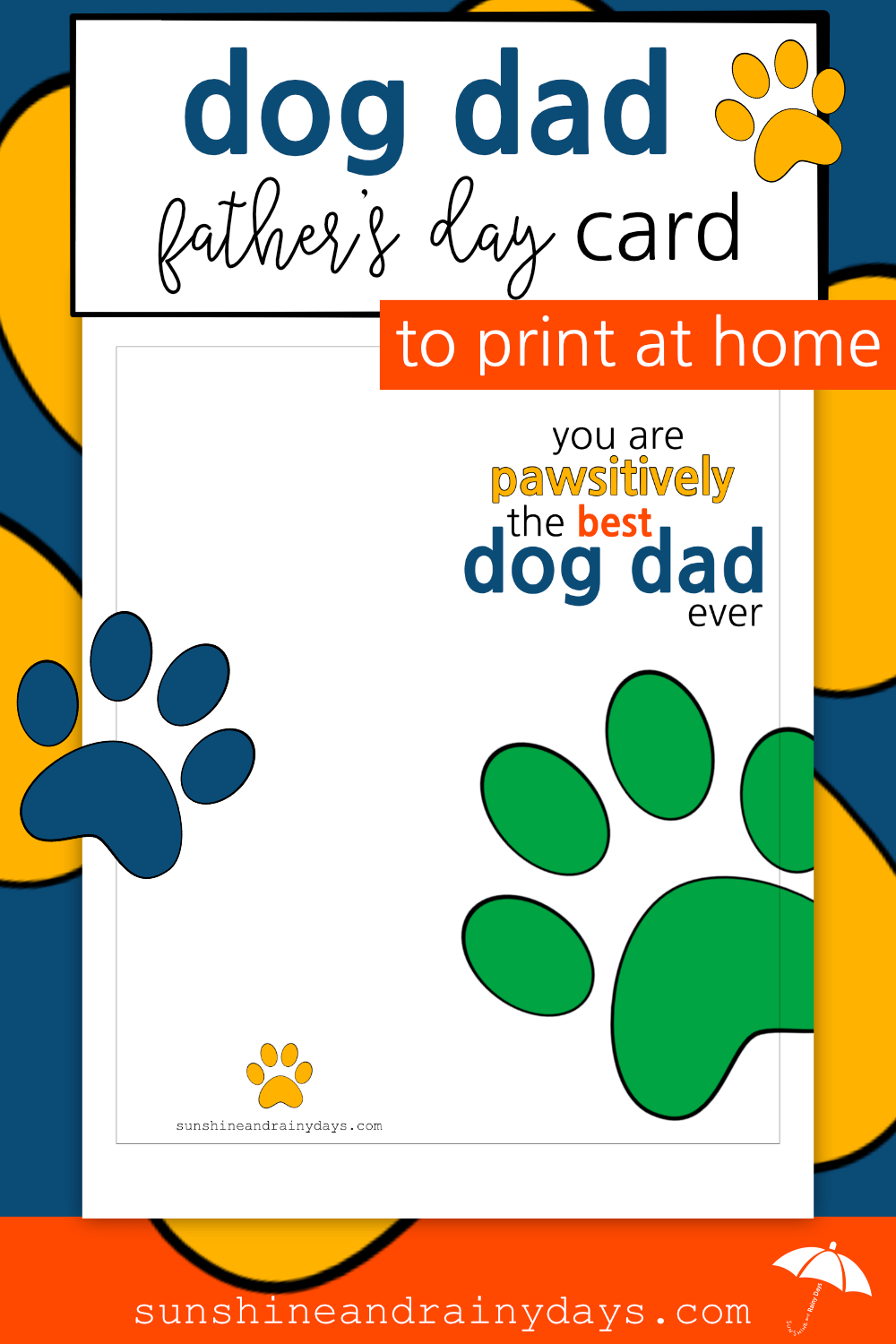 Dog Dad Father's Day Card (PDF)
