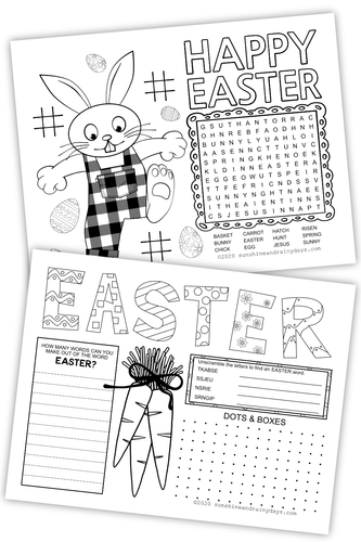 Easter Activity Sheet For Bloggers (PDF)