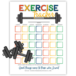 Printable Exercise Tracker - PDF