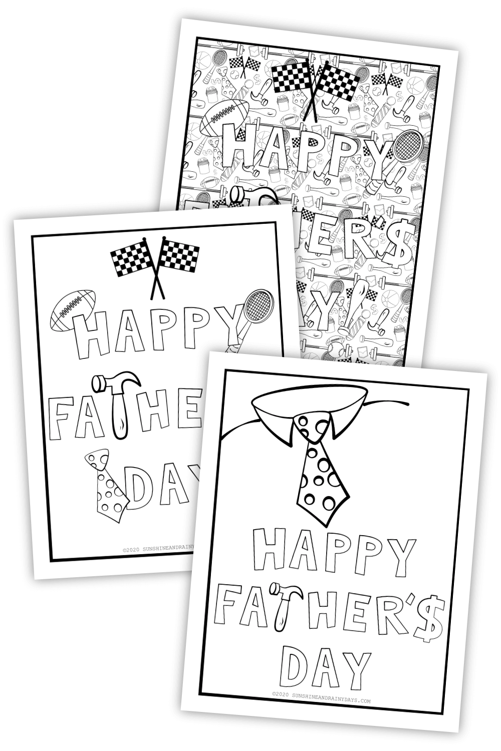 Father's Day Coloring Pages (PDF)