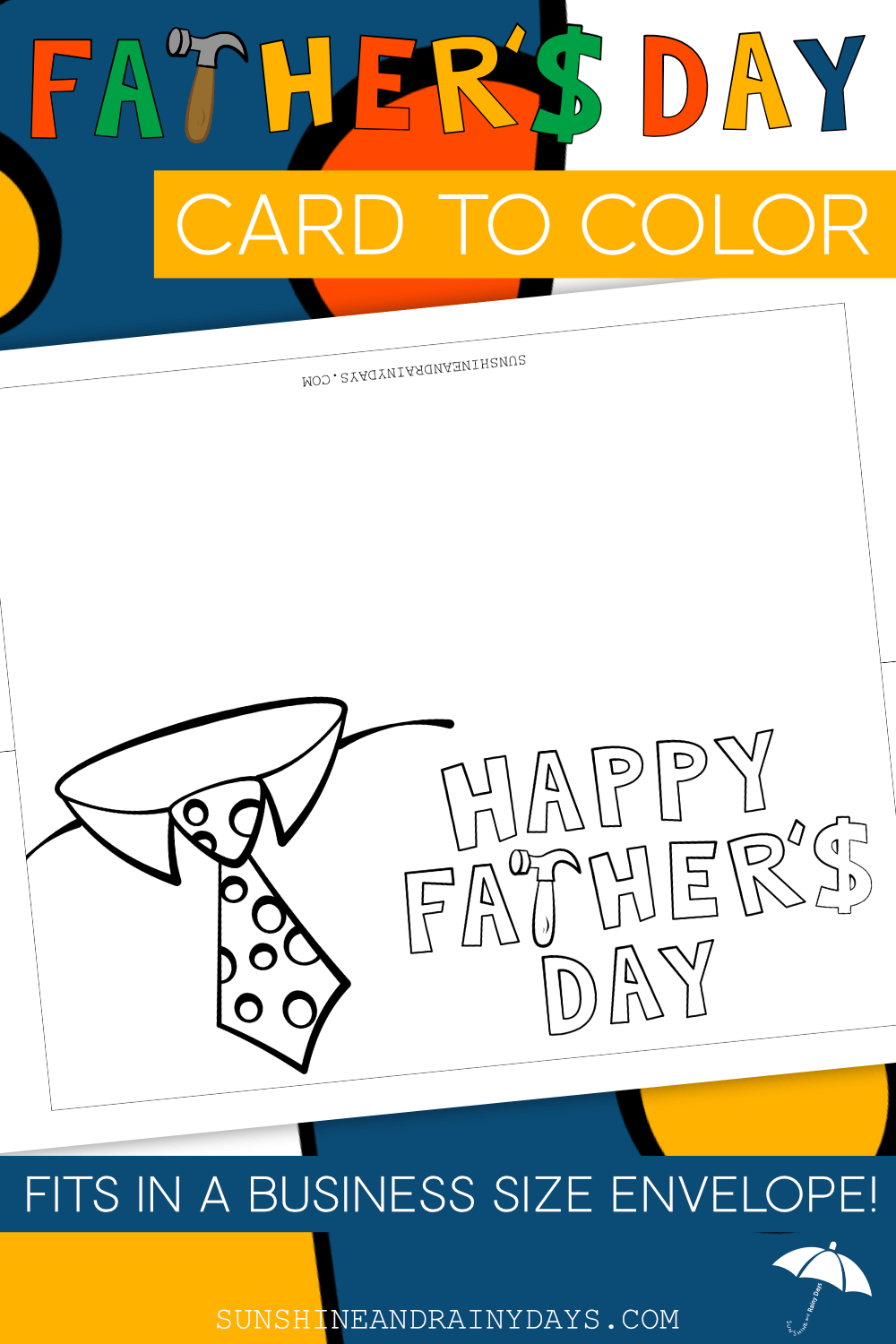 Father's Day Card To Color (PDF)
