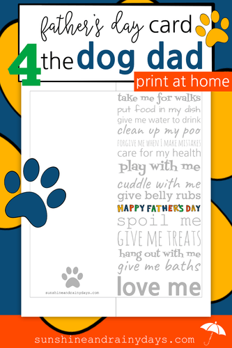 Father's Day Card For The Dog Dad (PDF)