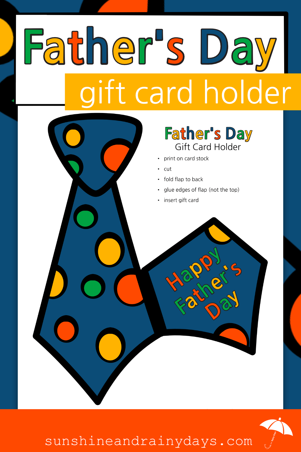 Father's Day Gift Card Holder (PDF)