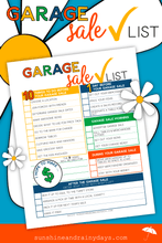 Garage Sale Table Signs, Sales Record, And Checklist (PDF)