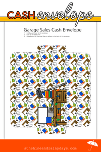 Garage Sales Cash Envelope (PDF)