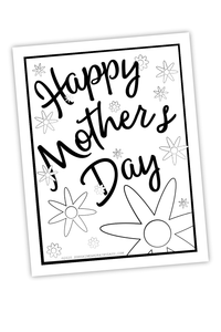 Mother's Day Coloring Sheet (PDF)