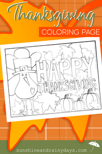 Thanksgiving Coloring Page PDF
