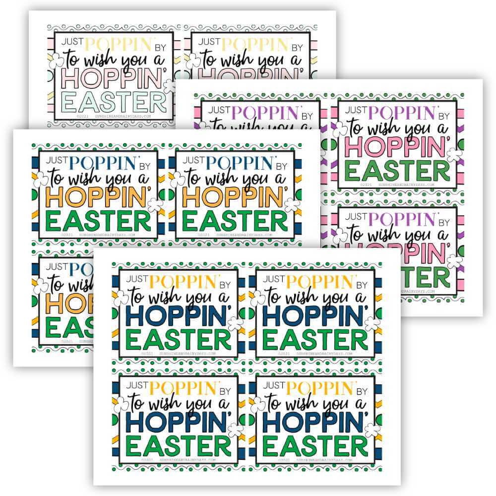 Happy Easter Microwave Popcorn Tag (PDF)