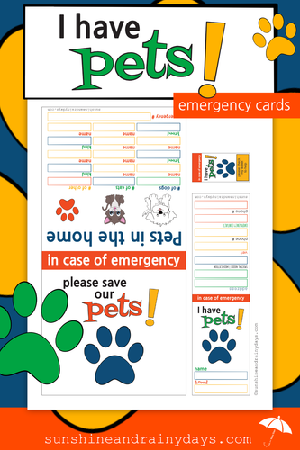 I Have Pets Emergency Cards (PDF)