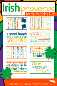 Irish Proverbs Printable For St. Patrick's Day (PDF)