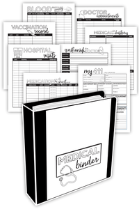 Medical Binder - Black & White (PDF)