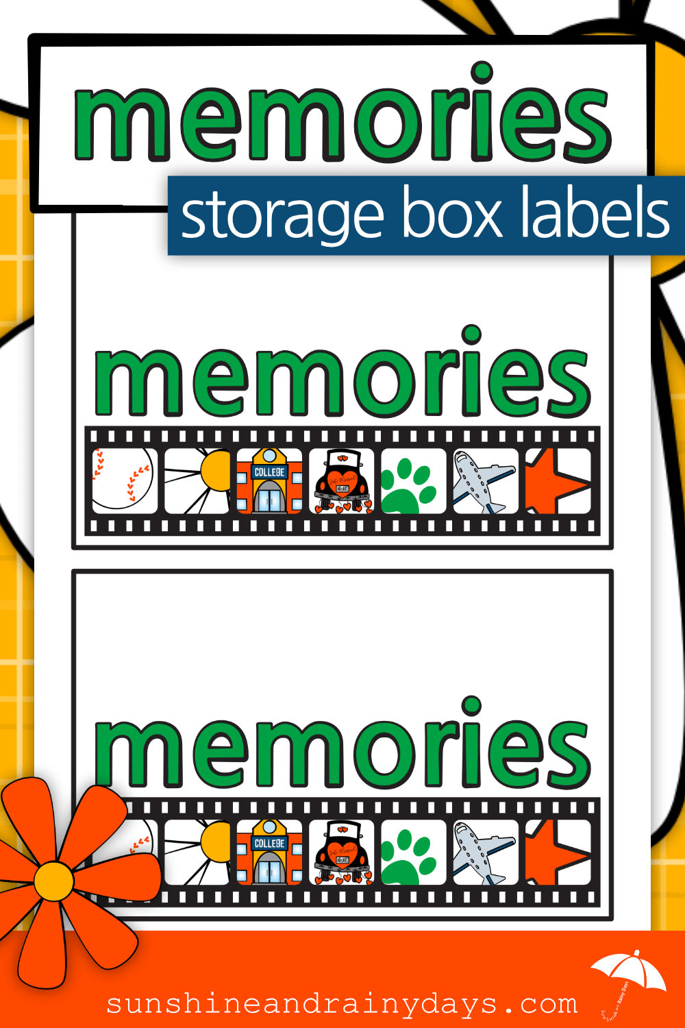 Memories Storage Box Label (PDF)
