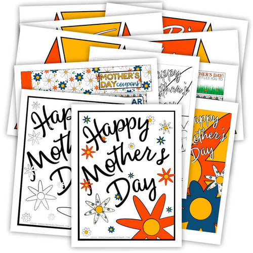 Mother's Day Banner, Card, Coupons, and Sign (PDF)
