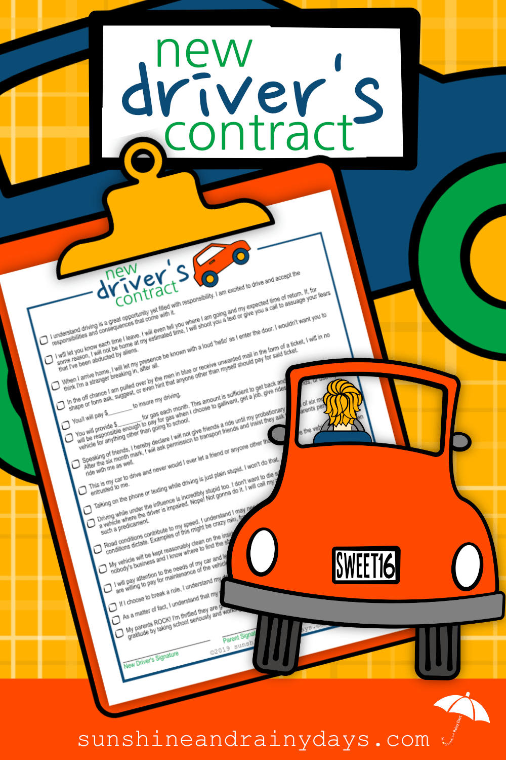 New Driver's Contract (PDF)