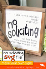 No Soliciting Sign (SVG Cut File)