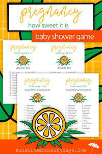 Pregnancy - How Sweet It Is Baby Shower Game (PDF)