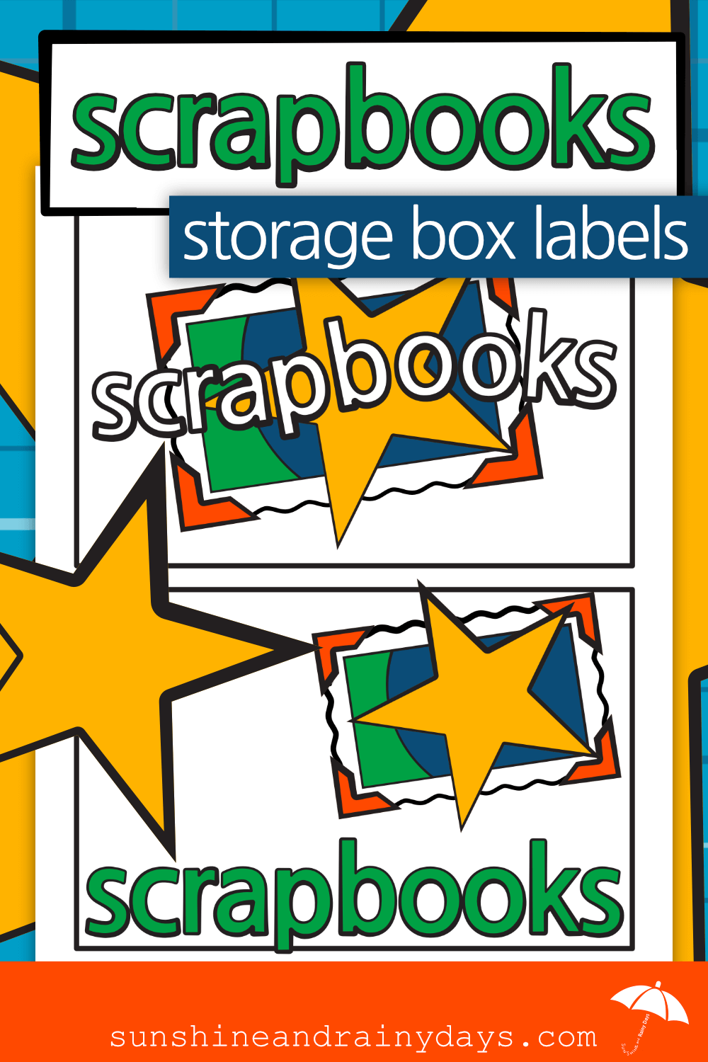 Scrapbooks Storage Box Labels (PDF)