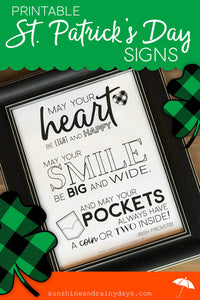 Printable St. Patrick's Day Signs (PDF)