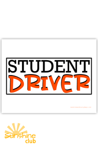 Student Driver Sign (PDF)