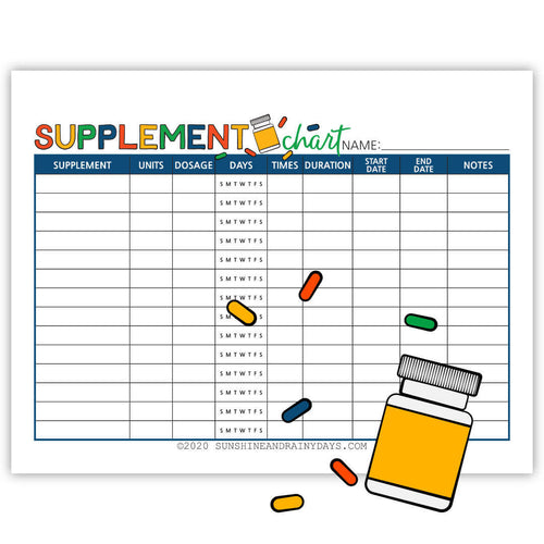Supplement Chart (PDF)