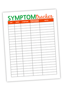 Symptom Tracker For Bloggers Green & Orange (PDF)