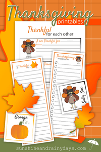 Thanksgiving Printables (PDF)
