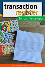 Transaction Register For Cash Envelopes (PDF)