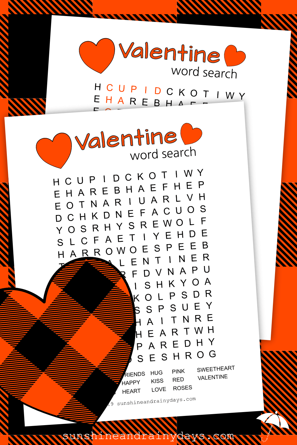 Valentine Word Search (PDF)