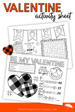 Valentine Activity Sheet (PDF)