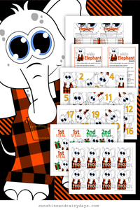 White Elephant Invites, Rules, and Game Cards - Buffalo Plaid (PDF)