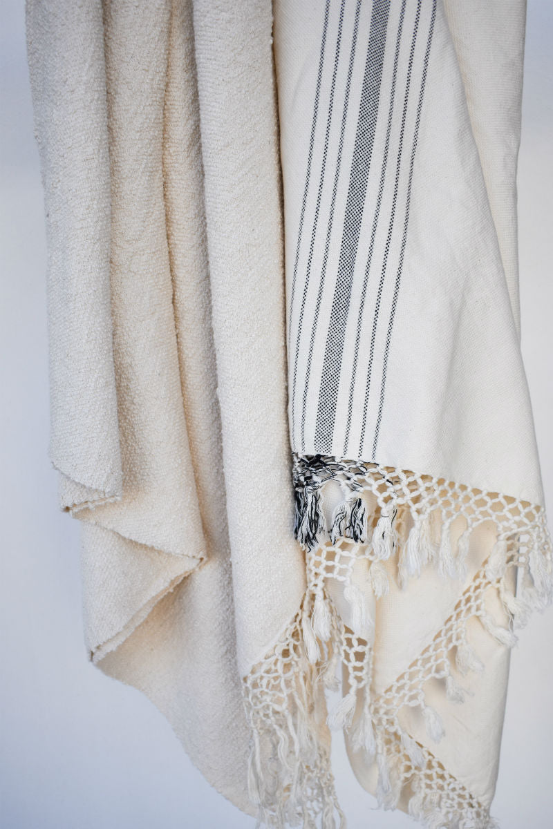 Aniqa and Elia Handwoven Cotton Towels