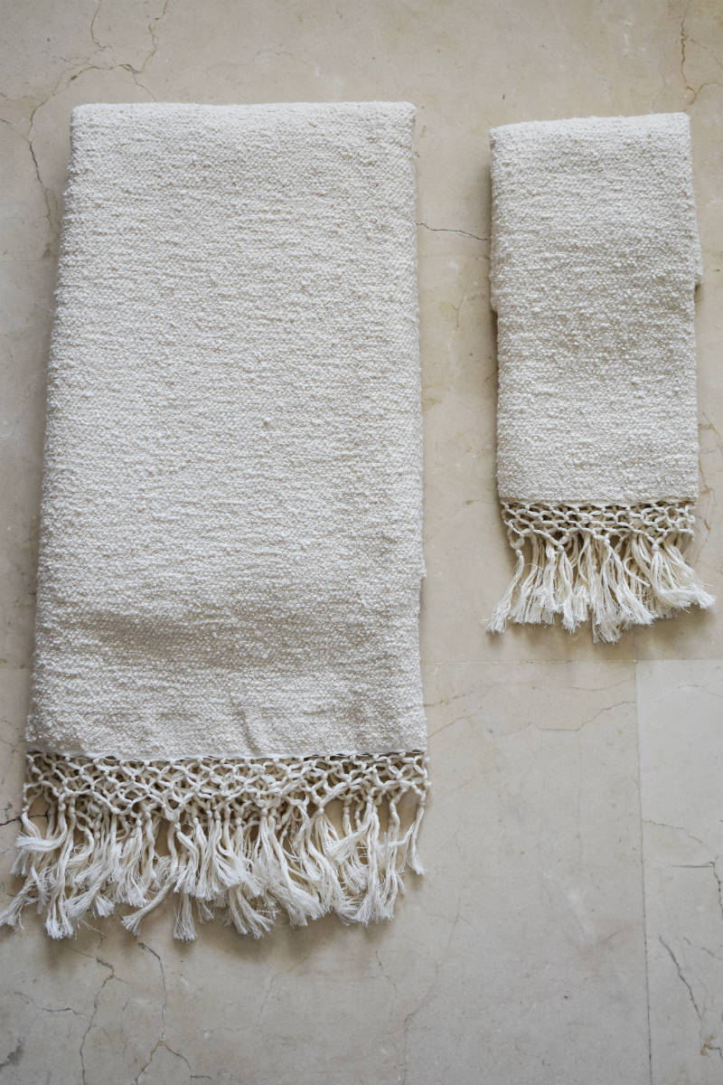 Aniqa Handwoven Hand and Bath Towel