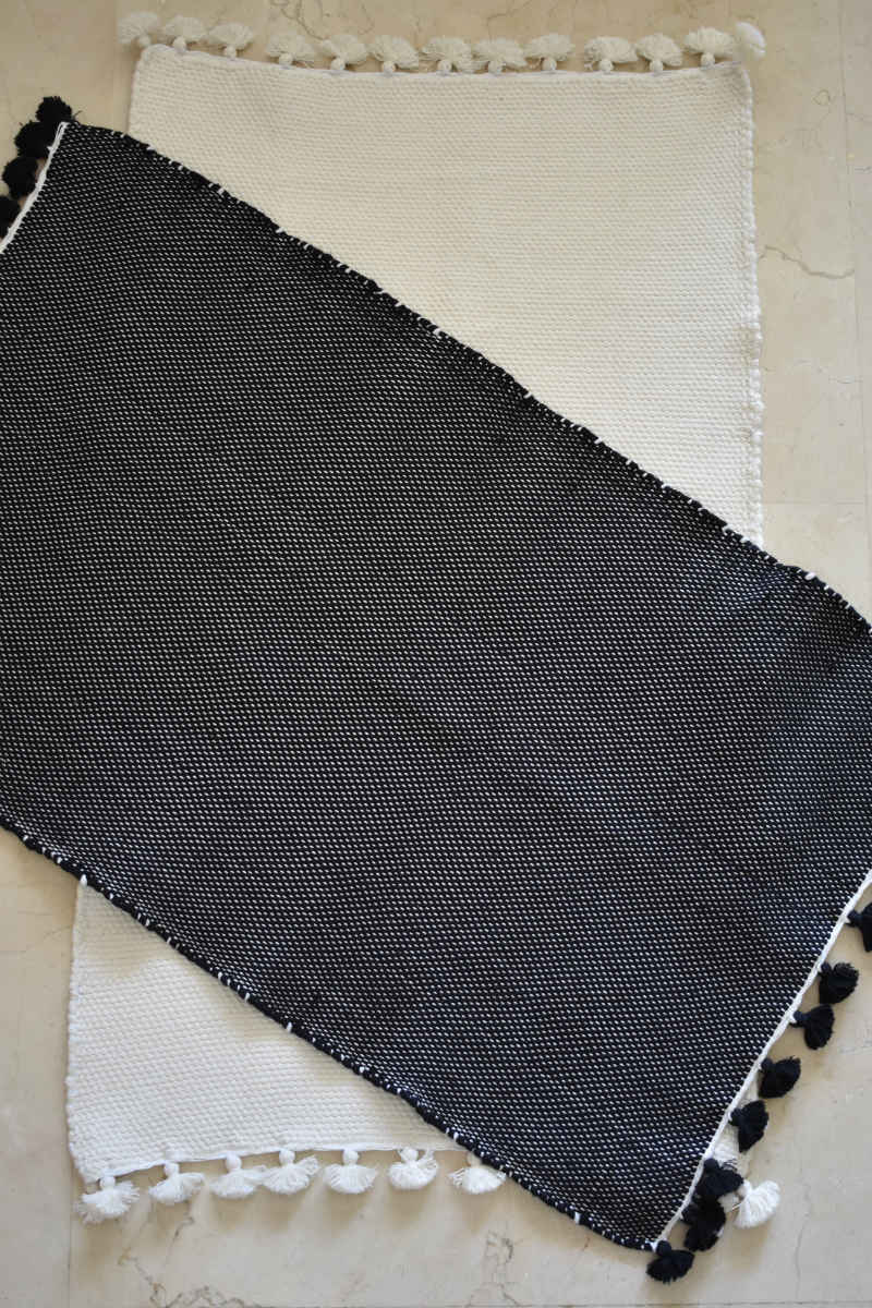 Zayen Handwoven Cotton Bath Mat