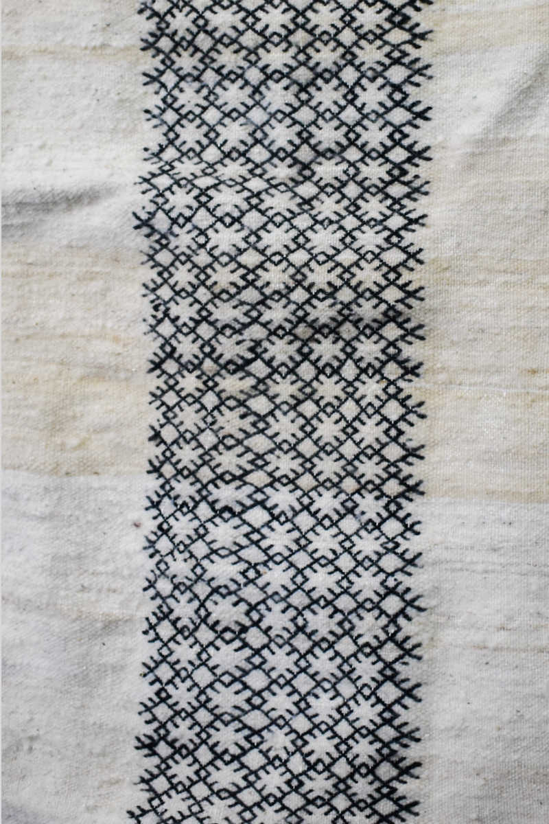 Slide View 3: Lilya Handwoven Berber Flat-weave Rug Close-up