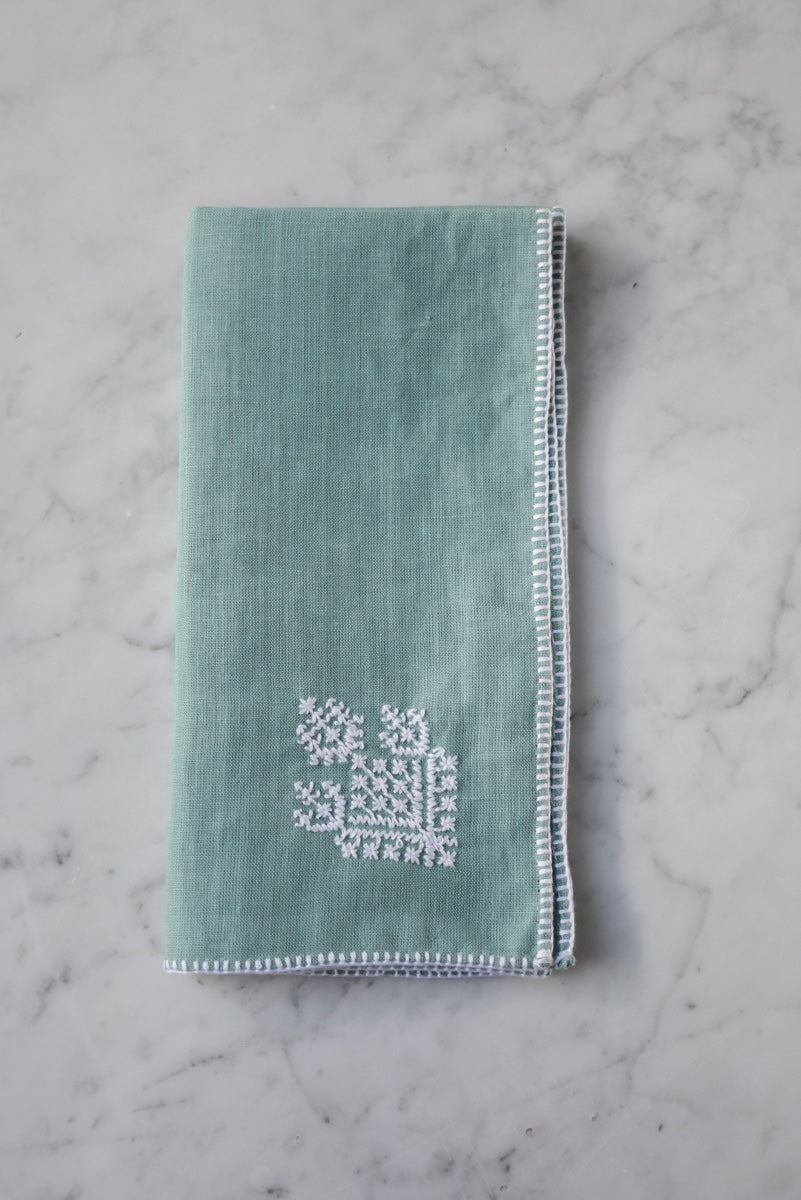 Zahra Washed Linen Embroidered Napkin