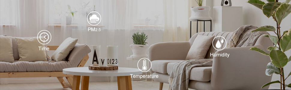 Temperature, humidity and air quality monitor