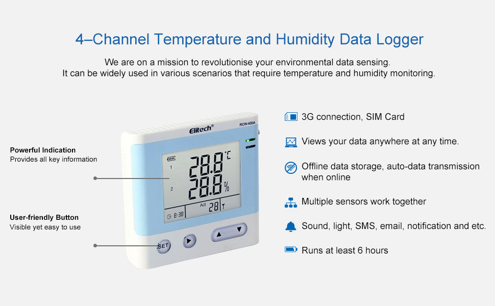 <strong>Application</strong><br />The Temperature Data Logger Two-Way Short Message Alarm Modules, Double Way Temperature Input, With Wide Temperature Measurement Range And High Accuracy.
