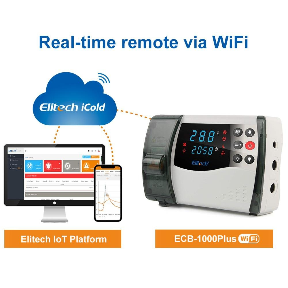 Elitech ECB-1000PLUS Digital Temperature Control Box Wireless Temperature Controller - Elitech Technology, Inc.