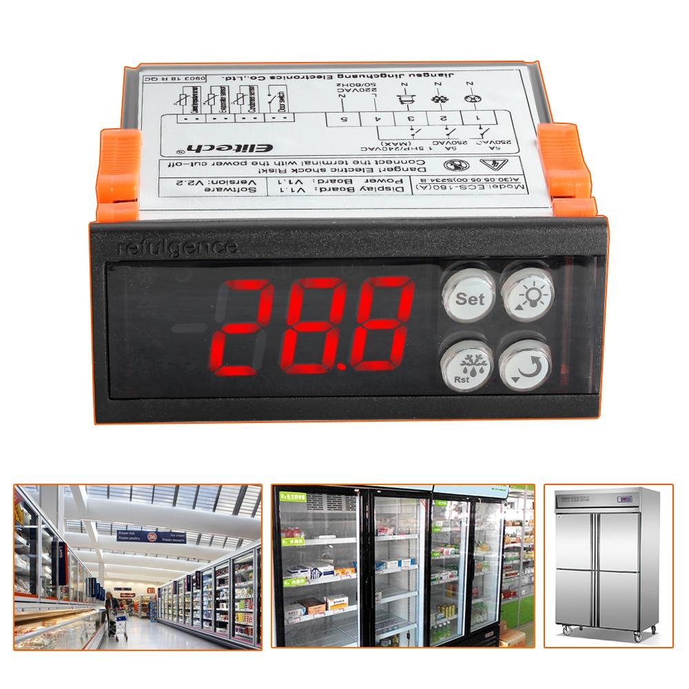 Elitech ECS-180A 220V Thermostat Temperature Controller - Elitechustore