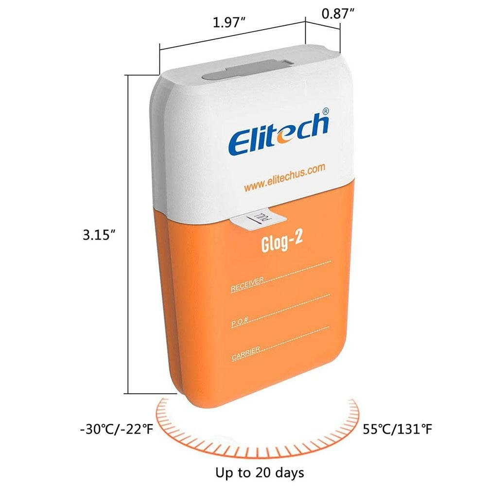 Elitech Glog-5 Singe-Use IoT Temperature Data Logger for Position and Illuminance - Elitech Technology, Inc.
