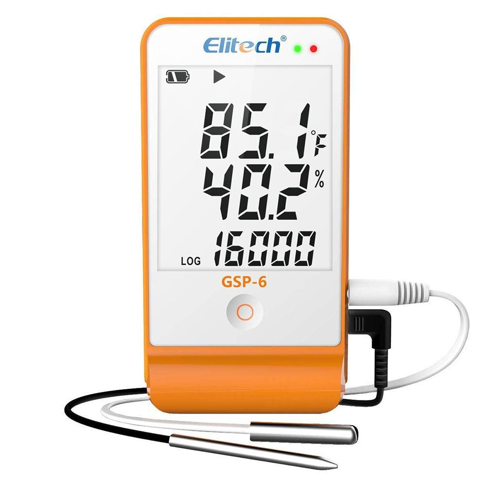 Elitech GSP-6 Temperature and Humidity Data Logger LCD Display - Elitech Technology, Inc.